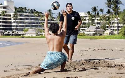 A little beach volleyball