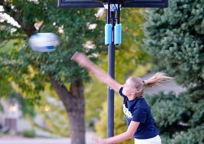 Hitting practice with DynamicSpike volleyball trainer