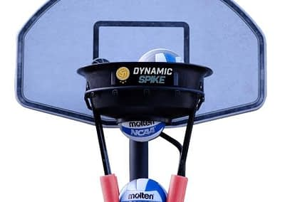 The DynamicSpike Volleyball hitting trainer with red foam arms