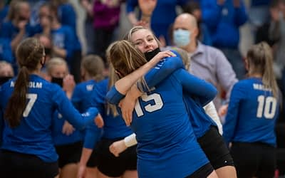 Malcolm's spirited start sets tone as Clippers win ECNC volleyball title