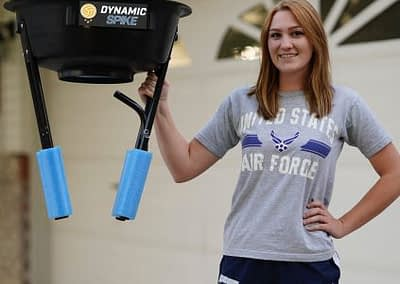 Easy set-up with the DynamicSpike volleyball trainer